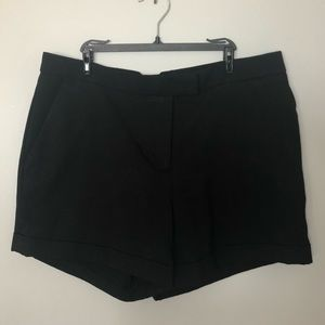 H&M High Waisted Black Shorts Size 8